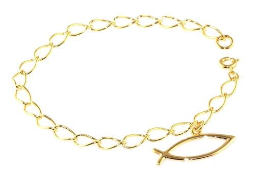 pulseira folheada ouro