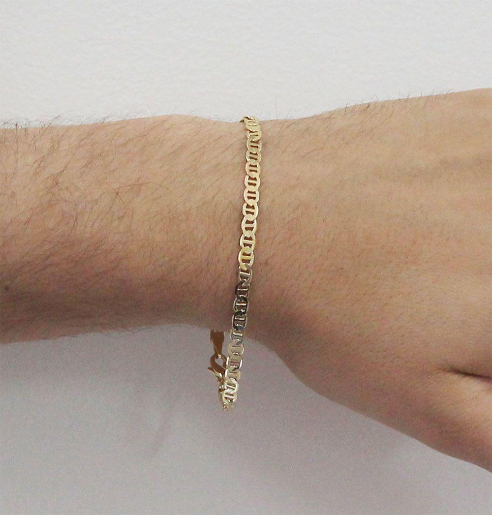 910666f9f2d Pulseira Folheada A Ouro 18k Modelo Cartier Francês - R  42