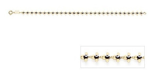 pulseira folheada ouro formato olho grego rommanel