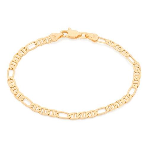 pulseira folheado ouro rommanel fina oval pino bonito 551622