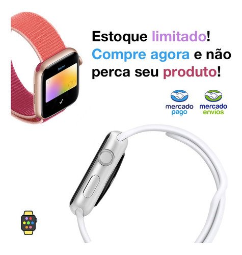 pulseira furos areia do deserto apple watch 38mm 40mm sm