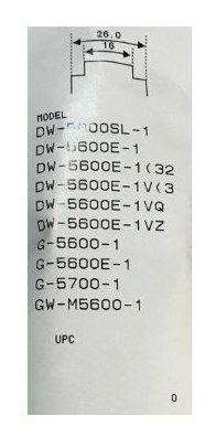 pulseira g-schok dw-5600 dw-5000 g-5600 g-5700 gw-m5600-1