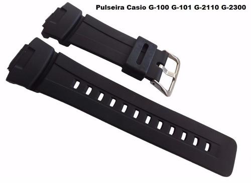 pulseira g-shock casio g-100 g-101 g-2400 g-2110 g-2300