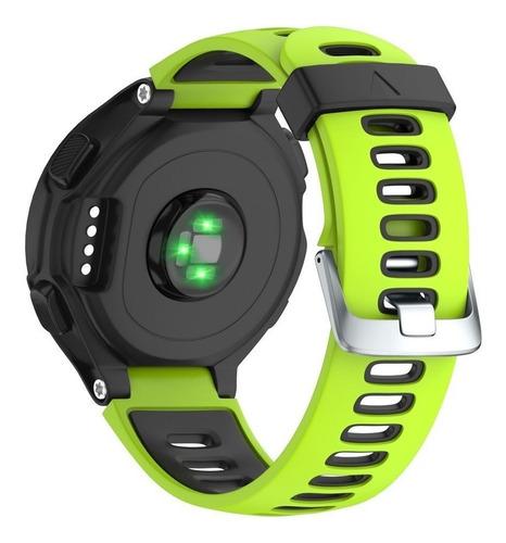 pulseira garmin 220 230 235 620 630 735xt verde e preto