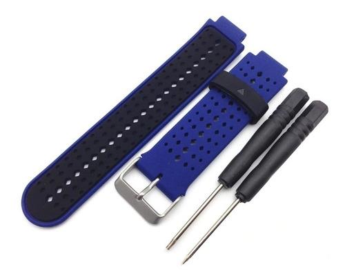 pulseira garmin forerunner 230/235/630/220/62 preta e branco