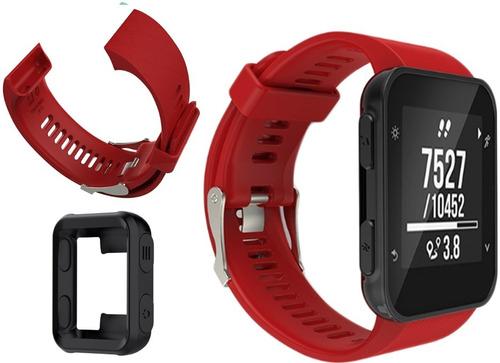 pulseira garmin forerunner 35 vermelha + case