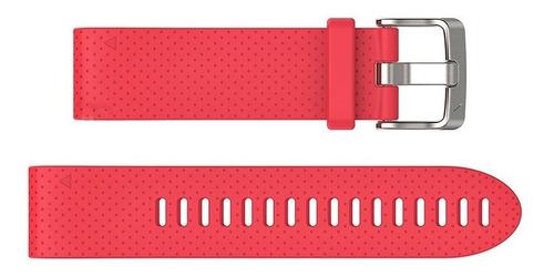 pulseira garmin p relógio quickfit 20 silicone rosa fenix 5s