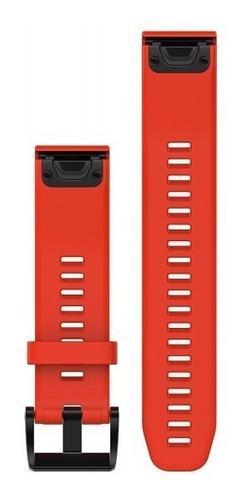 pulseira garmin quickfit 22 fenix 5 935 silicone vermelho