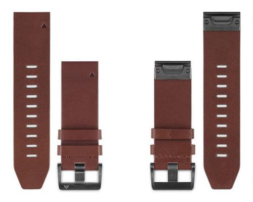 pulseira garmin quickfit 22 fenix 5 plus fr 935 couro marrom