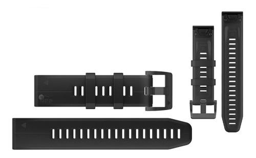 pulseira garmin quickfit 22mm fenix 5 e 935 silicone preto