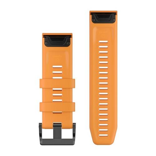 pulseira garmin quickfit 26 fenix 5x fenix 3 laranja