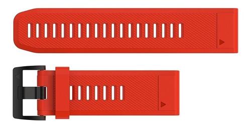 pulseira garmin quickfit 26 fenix 5x plus fenix 3 vermelha