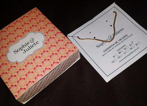 pulseira  gigi amarela sophia e juliete. semi joias.