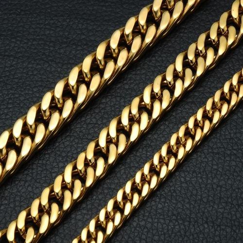 pulseira grossa 12mm 22cm ouro corrente hip hop x lxbr bl49b