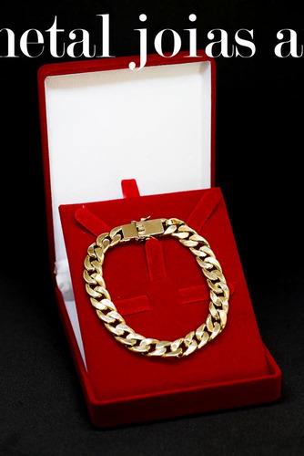 pulseira grumet 13gr 7mm 21cm ouro 18k (750) com nota fiscal