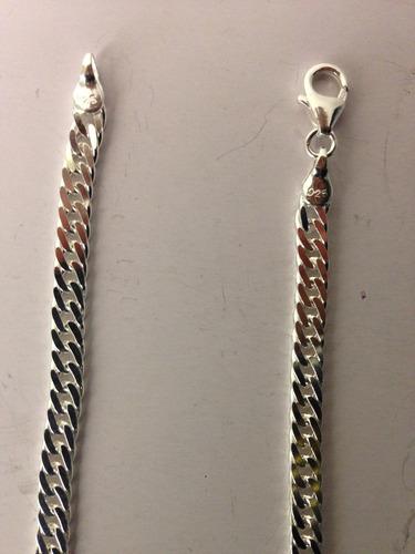 pulseira grumet dupla de prata 925 italiana 5mm 21cm -maciça