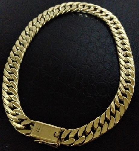 pulseira grumet duplo em ouro 18k 750 promoção