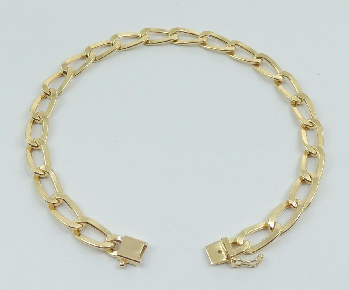 f6714175be0 pulseira grumet masculina 19 cm ouro 18k 750 super promoção. Carregando  zoom.