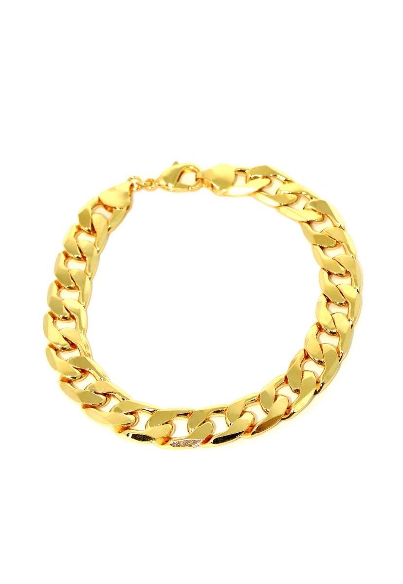 pulseira grumet masculina diamantada 10 mm banhada a ouro. Carregando zoom. 607310078e