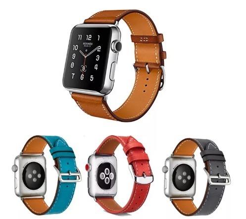 a80f2eb7b4e Pulseira Hermes Couro Premium Apple Watch 1 2 3 4 + Brinde - R  139 ...