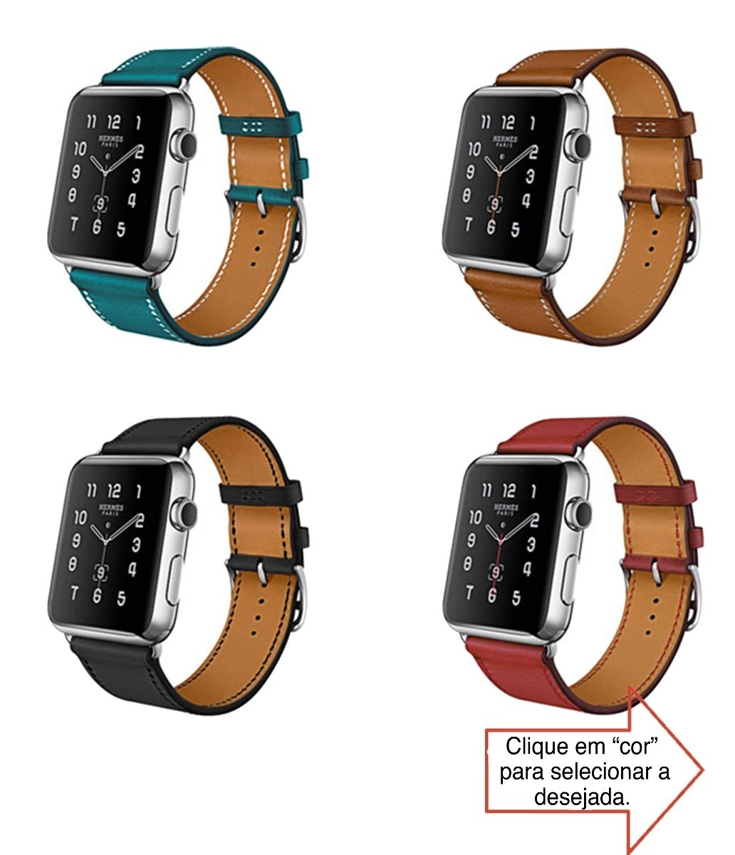 f83906e585b pulseira hermes single tour couro apple watch 42mm 38mm 44mm. Carregando  zoom.