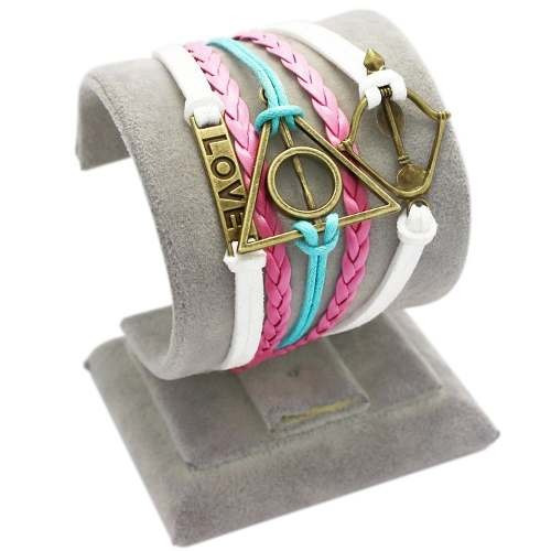 pulseira hermione granger harry potter arco do amor rosa