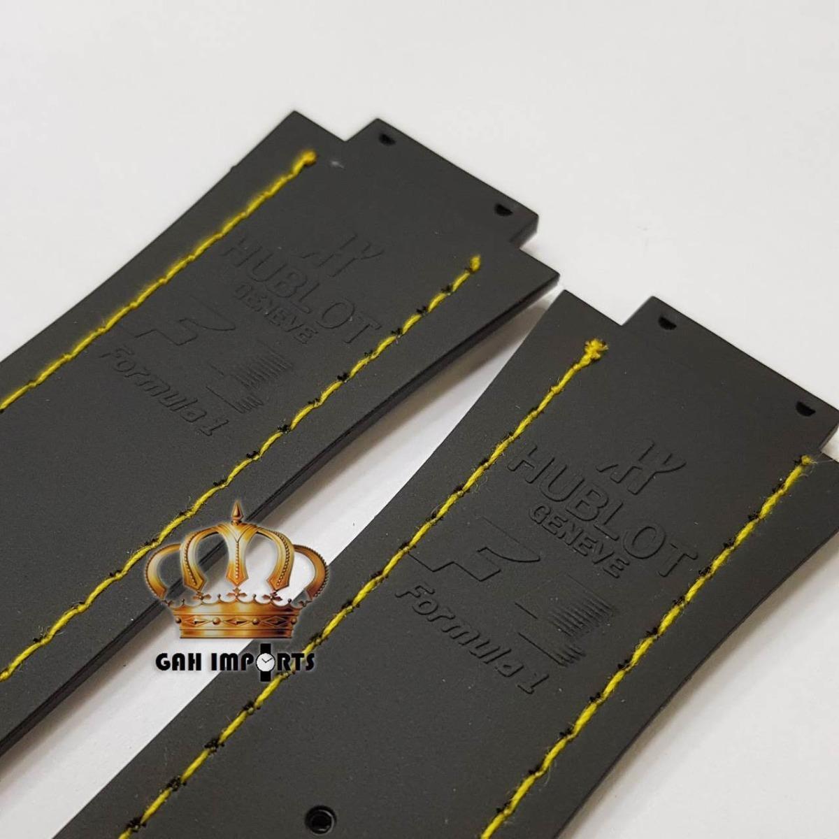 e37e696521d pulseira hublot king power f1 ayrton senna costura amarela. Carregando zoom.