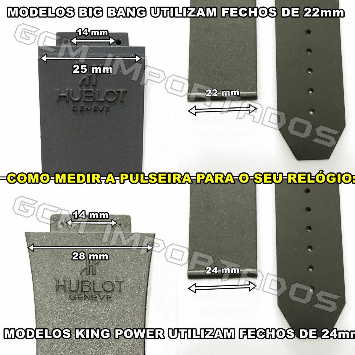 f6cdd9a4816 Pulseira Hublot King Power F1 Ayrton Senna Costura Amarela - R  59 ...