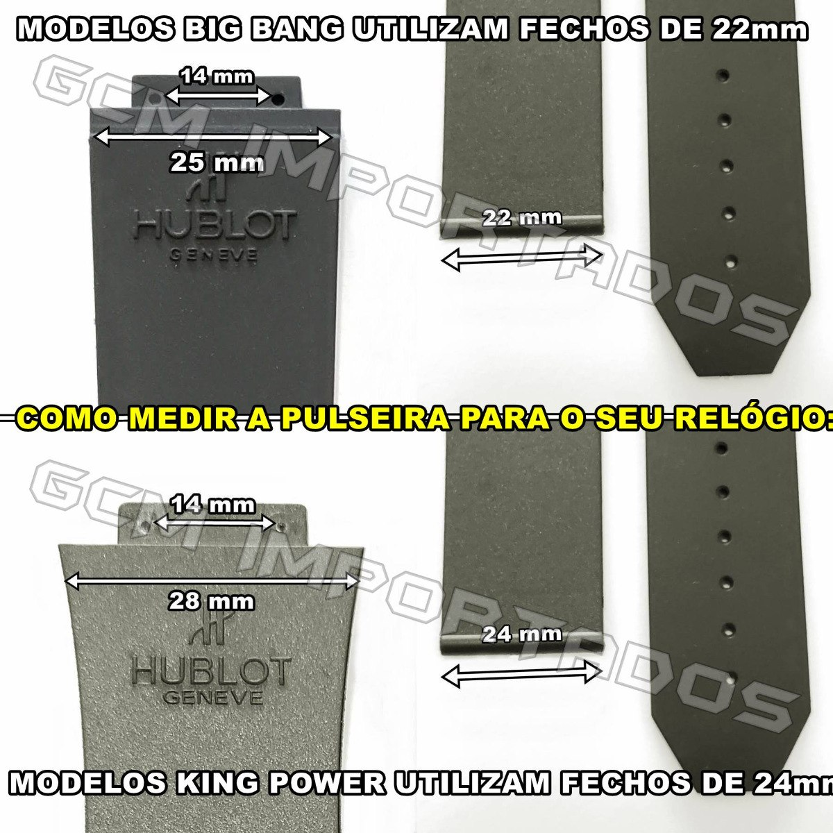 3c9d3c8300b Pulseira Hublot King Power F1 Ayrton Senna Costura Verde - R  69