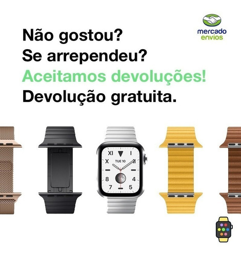 pulseira ibands couro legítimo fecho deployant apple watch