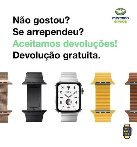 pulseira ibands couro legítimo rallye para apple watch