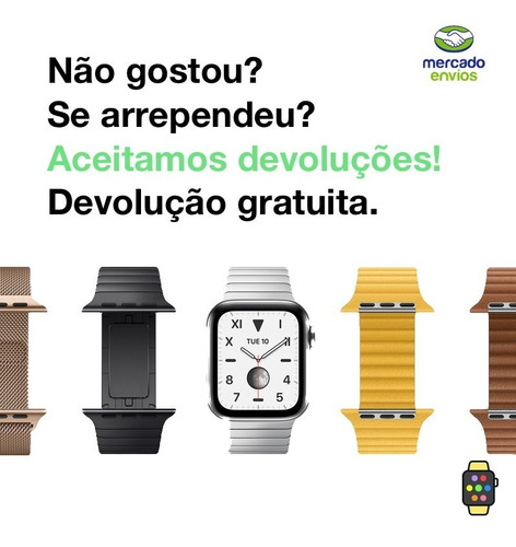 pulseira ibands couro legítimo simple tour apple watch