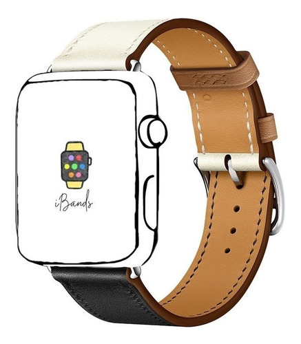 pulseira ibands couro legítimo simple tour para apple watch