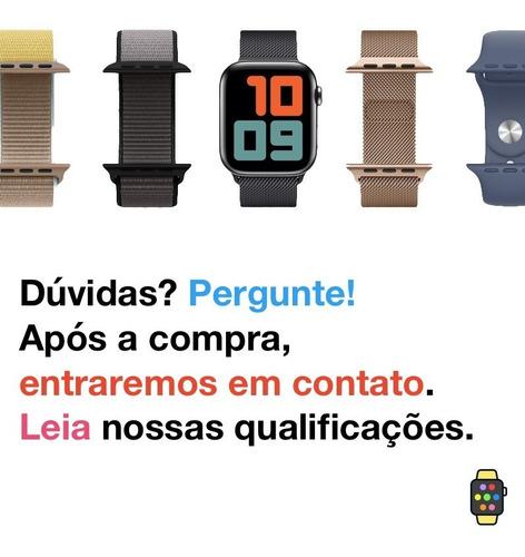 pulseira ibands couro loop fecho magnético apple watch