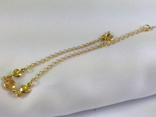 pulseira infantil folheada ouro 18k criança na moda bonita