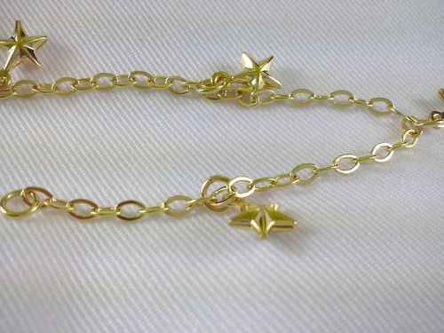 pulseira infantil folheada ouro 18k present criança acessori