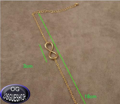 pulseira infinito  banhada a ouro ou prata .