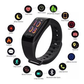 Pulseira Inteligente Smartband F1 P Monitor Cardíaco Relógio