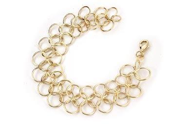 pulseira intercalada círculos vazados 20 rommanel 550789