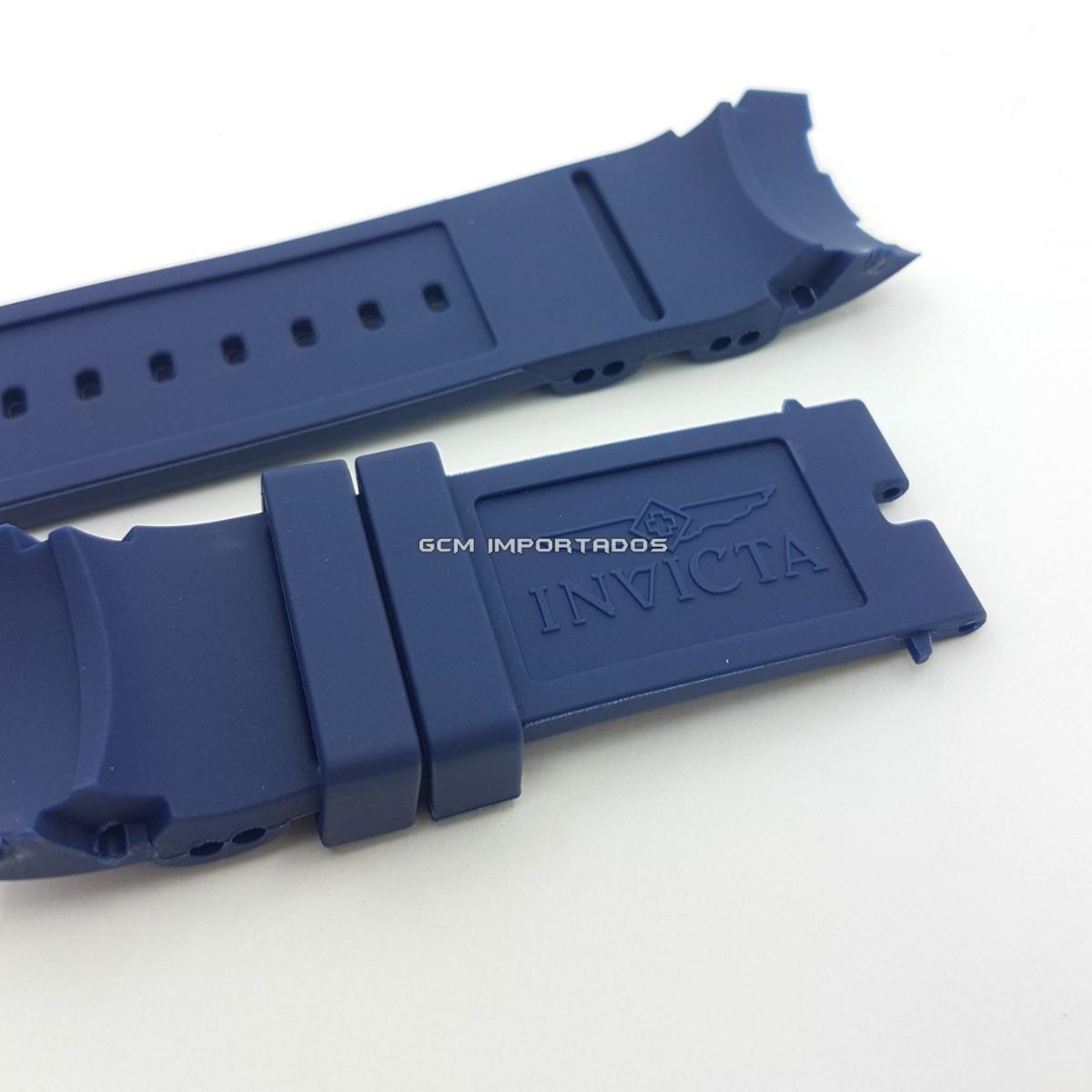 4264ebfbc1b Pulseira Invicta Pro Diver Na Cor Azul Em Borracha - R  59