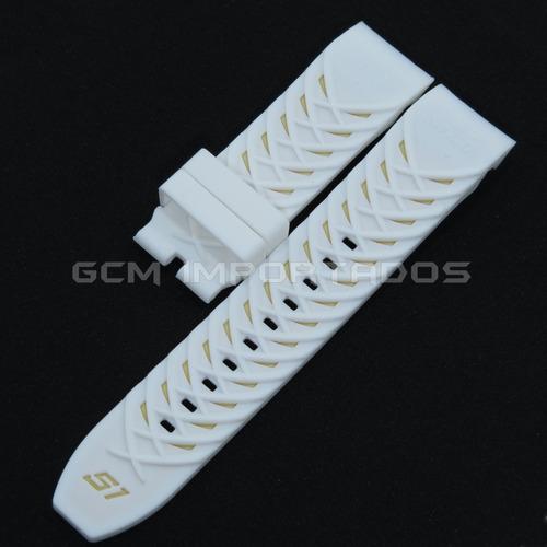 pulseira invicta s1 yakuza cor branca de silicone
