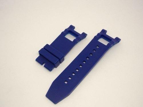 pulseira invicta subaqua noma 3 borracha siliconada azul
