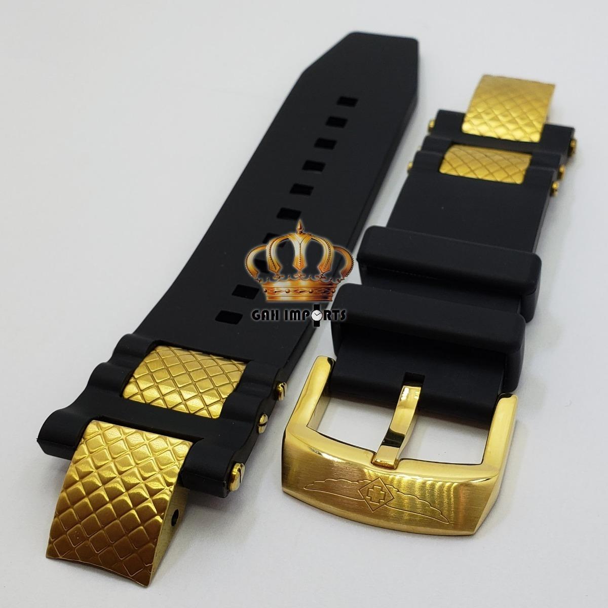 bca2d85f1d4 pulseira invicta subaqua noma 3 iii completa dourada. Carregando zoom.