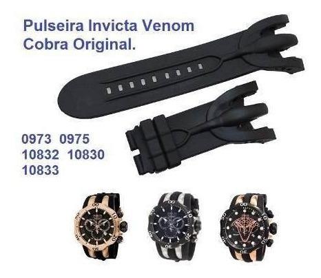 pulseira invicta venom reserve 10830 10831 10832 10833 cobra