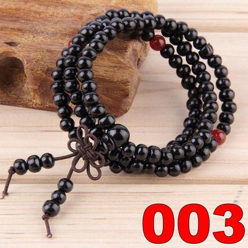 pulseira japamala 108 contas de 6mm de sândalo natural 1