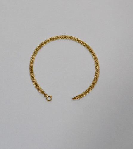pulseira lacraia ouro 18k; 18,5 cm; 2,1 gramas; 4 mm espessu