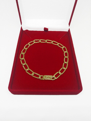 pulseira laminada 5 grs  ouro 18k 750