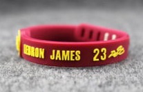 e0604b2b43a Pulseira Lebron James - Nba - Los Angeles Lakers - Silicone - R  20 ...