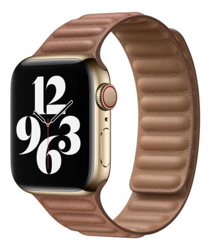 pulseira loop em couro para apple watch 42/44mm - marrom