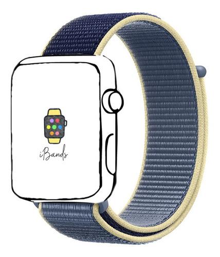 pulseira loop esportiva azul alasca apple watch 38mm 40mm